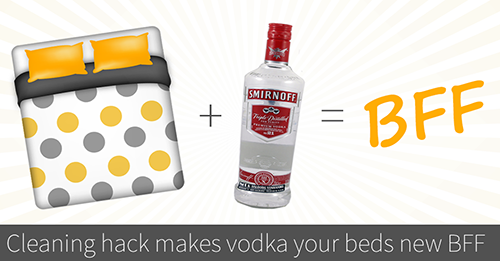 vodka to clean mattress