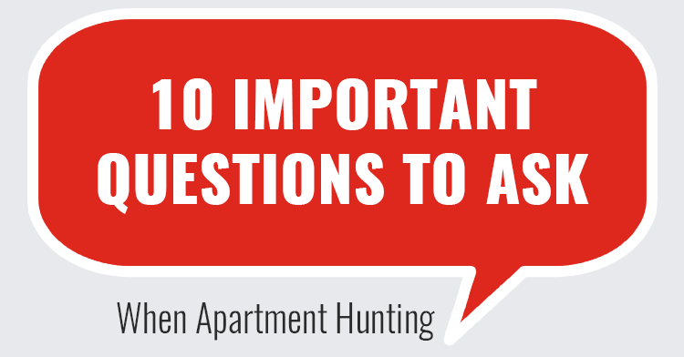 questions to ask when looking for apartment - ms