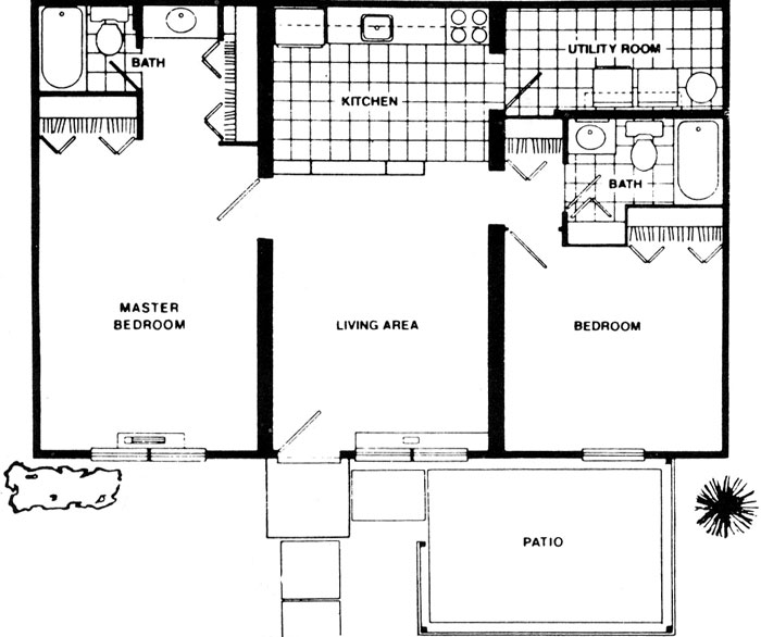 2 Bedroom Apartments Floor Plan two bedroom apartments fort wayne - montrose square apartments