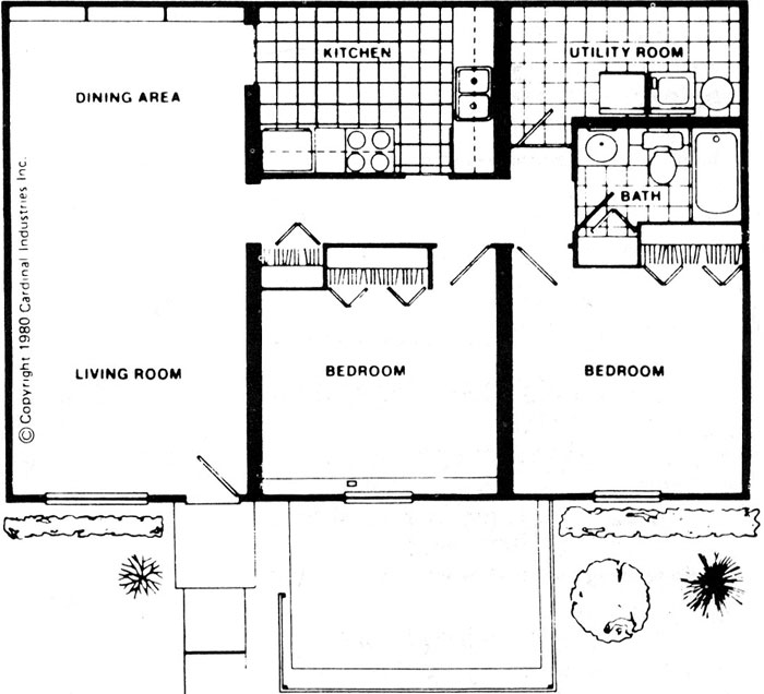 Charmant What We Usually Are Reading Through Now Is An Image Architectural Plan Of Two  Bedroom Flat.